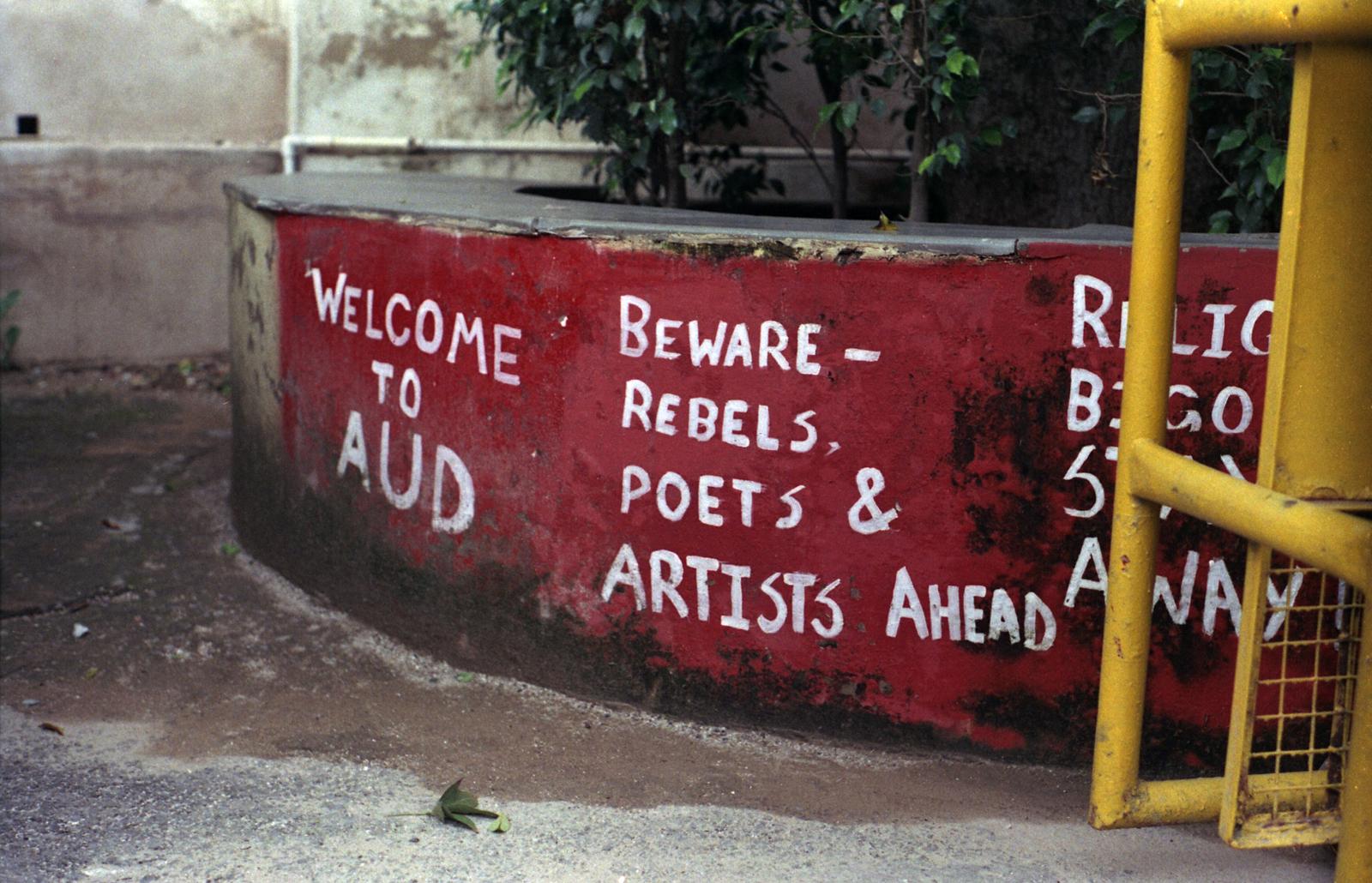 Welcome to AUD! Beware: Rebels, Poets & Artists Ahead
