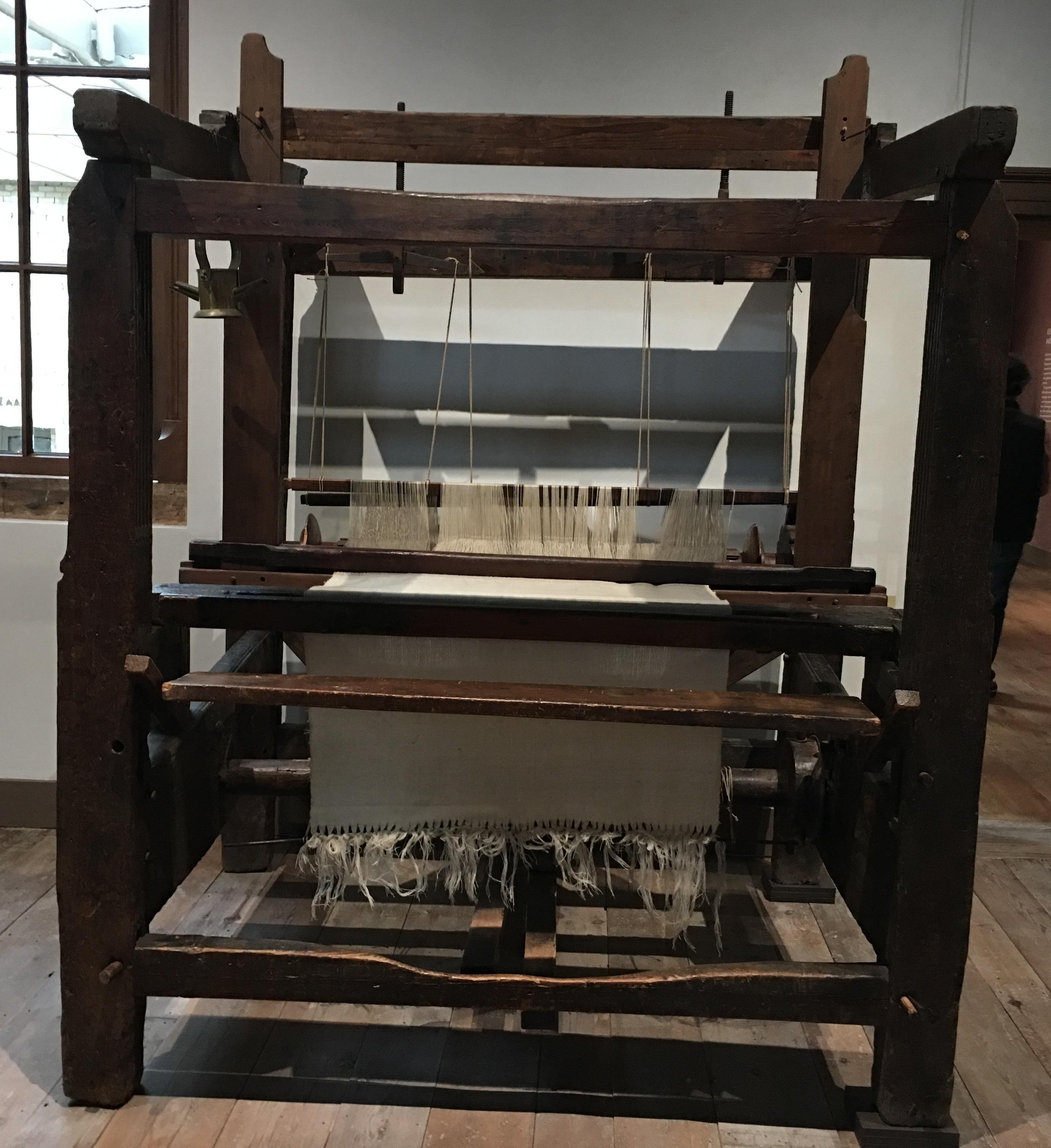 Figure 1: Handloom weaving in Leiden