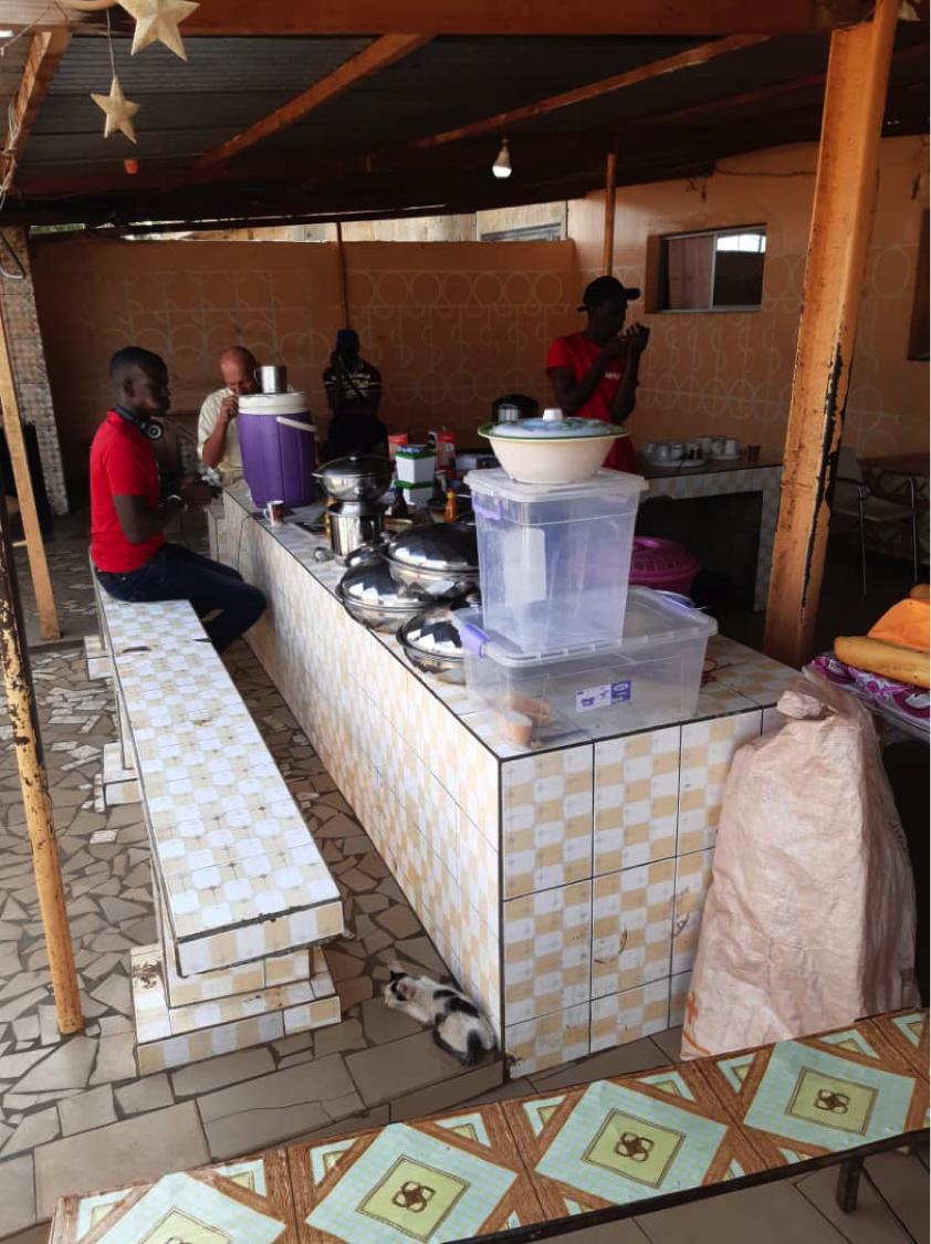 One of the concrete food-stalls, Ngoumba Guéoul.