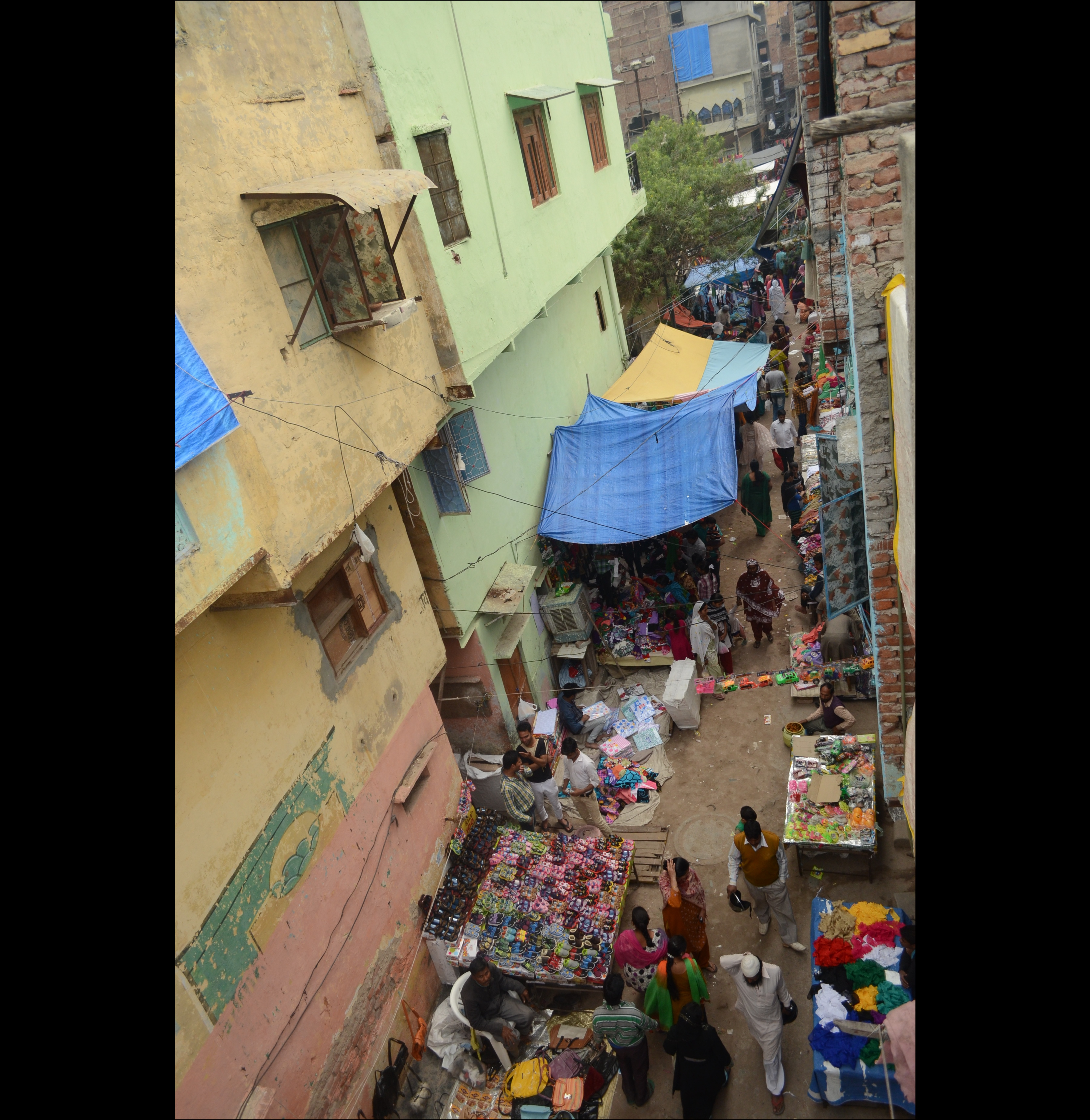 Top view of Shani Bazaar in XYZ Colony